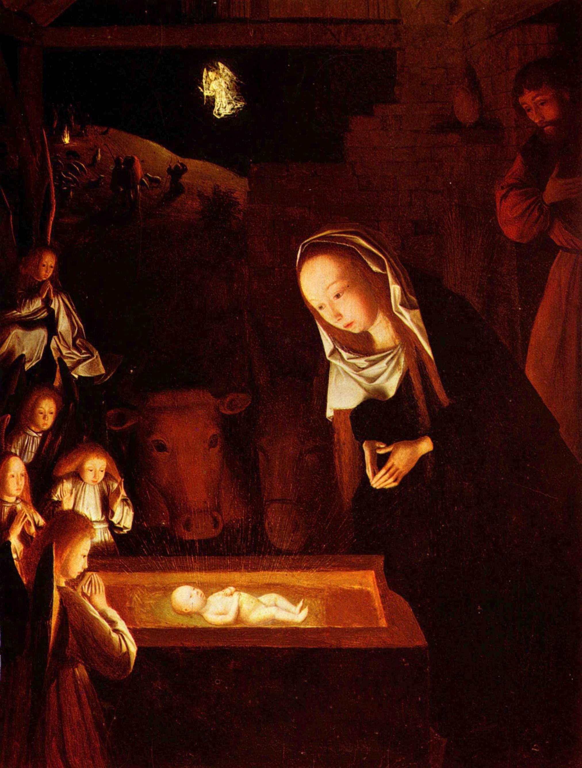 maria bij kribbe